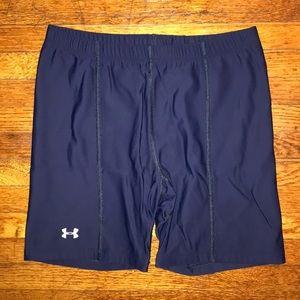 Under Armour Navy Blue Spandex Shorts